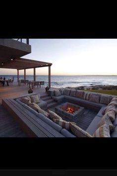 Fire pit on the deck
