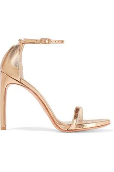STUART WEITZMAN Nudistsong Metallic Leather Sandals. #stuartweitzman #shoes #sandals
