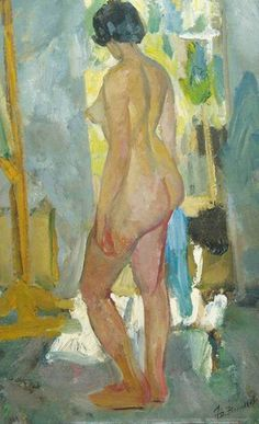 Vasilyev, Yuri   Standing Nude Oil on board 81 x 51 cm - See more at: http://www.russianartdealer.com/galleries/russian-art#sthash.062TkcJN.dpuf
