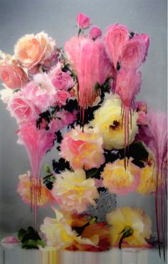 Nick Knight's Melting Florals #art