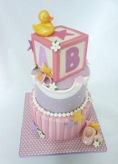 Female baby shower cake...wonderful!!