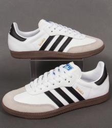 Adidas Samba Trainers in White/Black/Gum