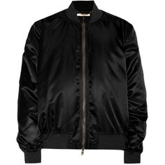 Givenchy Bomber Jacket ($1,830) ❤ liked on Polyvore featuring outerwear, jackets, tops, black, blouson jacket, bomber style jacket, bomber jacket, givenchy and givenchy jacket