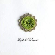 Mini tableau motif en relief pétals verts