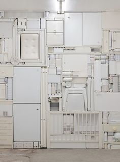 """ghost II"", a white-object installation by michael johansson"