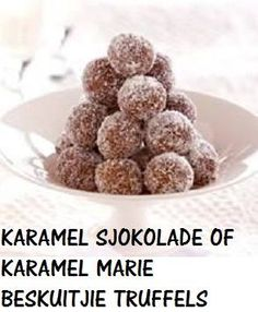 These delicious truffles from Marie McColl only need 4 ingredients! Milk Recipes, Candy Recipes, Sweet Recipes, Baking Recipes, Dog Food Recipes, Cookie Recipes, Dessert Recipes, Chocolate Caramels, Chocolate Truffles