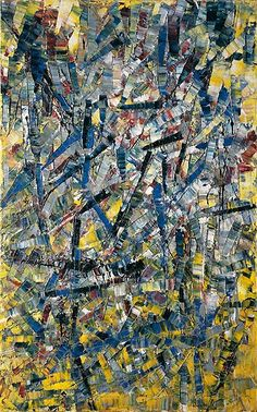 Jean-Paul  Riopelle - Painting , 1955  Oil on canvas, 115.2 x 72.5 cm  Peggy Guggenheim Collection, Venice