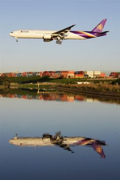 Thai Airways Boeing 777..such a beautiful livery...need to visit Thailand and fly in one of these jets again.