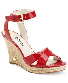 MICHAEL Michael Kors Shoes, Kami Platform Wedge Sandals - All Womens Shoes - Shoes - Macys