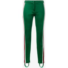 Gucci Stirrup Stripe Track Pants (€570) ❤ liked on Polyvore featuring activewear, activewear pants, gucci and track pants