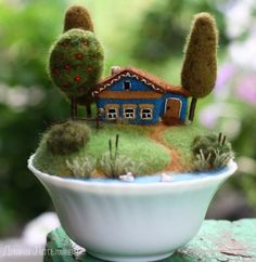 Needle Felted Art – 20 new creative pics | PicturesCrafts.com