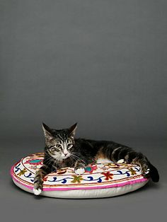 Embroidered Krishna Pet Bed