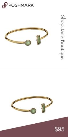 ▪️ Michael Kors Urban Rush Jade Green Open Cuff▪️ Add a touch of chic sparkle to any look with this gold-tone Michael Kors cuff bracelet. The open cuff is trimmed with genuine green jade stones in pavé halo settings. From the Urban Rush collection.  Authentic Michael Kors Bracelet Gold-tone steel Green jade & pave crystal Flexi open cuff Comes in a Michael Kors velvet pouch & care card Michael Kors Jewelry Bracelets