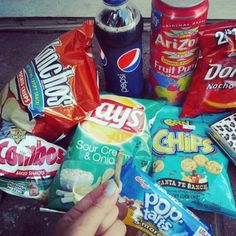 Junk food  The kind that is NOT given to children, on a regular basis, like it is with you & your significant other
