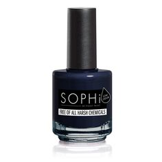 You Drive me Navy SOPHi Non-toxic Adult Nail Varnish - Virtually odourless, water-based formula & safe for use during pregnancy Spring Nail Colors, Spring Nails, Navy Nails, Blue Nail, Nail Pops, Brittle Nails, New Nail Polish, Neem Oil, Acetone