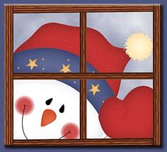 Let it Snow - Carla Simons - Picasa Web Albums Country Christmas, Christmas And New Year, All Things Christmas, Winter Christmas, Christmas Graphics, Christmas Clipart, Christmas Crafts, Christmas Decorations, Painting On Glass Windows