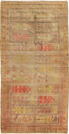 "ANTIQUE SAMARKAND Origin: EAST TURKESTAN Size: 7' 0"" x 14' 0"" Rug ID # 1140"