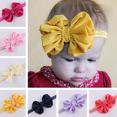 Baby Girls Cute Headbands Bowknot Hair Accessories For Girls Infant Hair Band #1989_2019