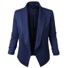 Jupe de Abby Lightweight Royal Blue Blazer ($39) ❤ liked on Polyvore featuring outerwear, jackets, blazers, coats, blue, light weight blazer, royal blue jacket, light weight jacket, lightweight jackets and blue blazer