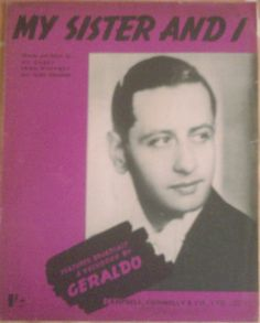 Early Sheet music 'My Sister & I' for Piano & Voice 1941