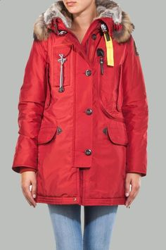 Parajumpers Kodiak Parka jacket Outlet Parajumpers Red Free shipping