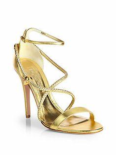 Alexander McQueen Woven Sandal Heels