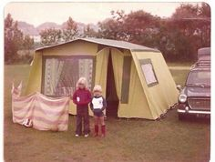 - Frame Tent, my parents bought one of these, had all mod cons inside, had plenty of holidays around Devon, Cornwall the South Coast of England staying in it! 1970s Childhood, My Childhood Memories, Nostalgia, South Wales, Retro, Backyard For Kids, Backyard Ideas, Going On Holiday, The Good Old Days
