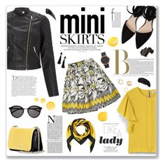 """Cute mini skirt"" by sissydoll ❤ liked on Polyvore featuring Lipsy, MANGO, Alice + Olivia, Miu Miu, Moschino, Balmain, Marc Jacobs, Boohoo, Yves Saint Laurent and Topshop"