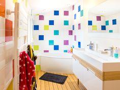 Salle de bains Blanc / Beige / Naturel Multicolore Contemporain / Actuel
