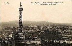 Lyon France 1906 City Panorama Metallic Tower of Fourviere Vintage Postcard
