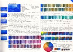 Jane Blundell: Watercolour Comparisons 1 Ultramarine Blue So much fun, these blue mixes go on for days! Watercolor Sketchbook, Watercolor Mixing, Watercolor Tips, Watercolour Tutorials, Watercolor Artists, Watercolor Techniques, Art Techniques, Watercolor Paintings, Watercolors