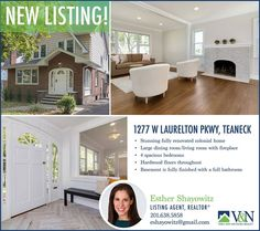 #NEWLISTING Check out this stunning fully renovated colonial home. Contact Esther Shayowitz - V & N Realty - 201.638.5858 or for more information or visit us online at http://ift.tt/1PBqWz7  More Listings. More Experience. More Sales. #teaneck #bergenfield #newmilford #realestate #veranechamarealty #njrealestate #realtor #homesforsale - http://ift.tt/1QGcNEj