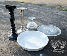 Finally a tutorial for making a cake plate that is well thought out and looks great.  The same basic principles should be used for everything you DIY.  Make it correctly and make it look nice.  candlesticks and microwave plates