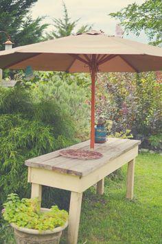 Gardening bench or outdoor buffet