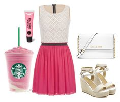 """Just a Day out to Starbucks in my Pink..."" by musicheartbeatjj on Polyvore"