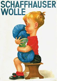 Lips Robert - Schaffhauser Wolle,vintage wool yarn advert,1931