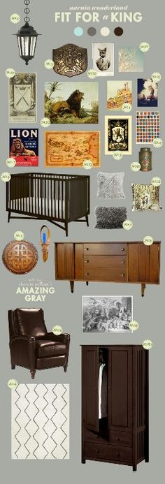 Okay, i don't like these at all, but just the idea; a narnia inspired nursery ! Would LOVE that