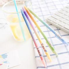 Aliexpress.com: Compre 6 pçs/lote Rainbow color caneta esferográfica corpo Magro Clique 0.5mm azul bola de rolo de tinta canetas material escolar acessórios de Escritório 6633 de confiança accessories school fornecedores em V&P stationery Store