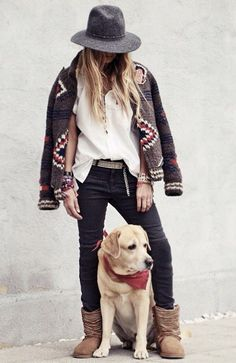 I think I'd go with cowboy boots instead, but I like it--I already have the dog to go with it.  LOL