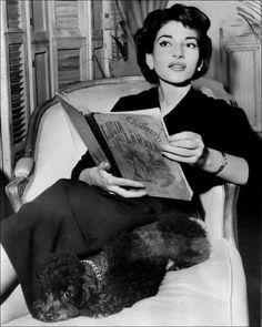 María Callas, 1950's.