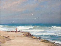 EMILE GRUPPE (1896-1978)  Pompano Fisherman, Florida, 1963  Oil on canvas on board