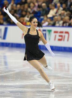 Kaetlyn Osmond of Canada skates during the ladies short program 2013 Skate Canada, Black Figure Skating / Ice Skating dress inspiration for Sk8 Gr8 Designs.