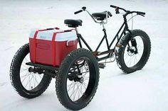 This is a cool BOB (Bug Out Bike) that could use a few mods, but 2 person and what looks like solid tires, as well as a built in rack? This has the initial makings for greatness if you can't get fuel for a vehicle or plan to bug out on a bike. As close to silent as you can get while not on foot and very little cost or maintenance required to keep it going. Food, water, chain lube. You needed the first 2 anyway.