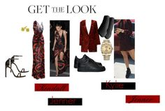 """Get The Look Kendall and Kylie Jenner"" by saylana ❤ liked on Polyvore featuring Stuart Weitzman, Versace, Rolex, Hanes and NIKE"