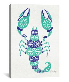 This Blue & Turquoise Scorpion Gallery-Wrapped Canvas is perfect! #zulilyfinds