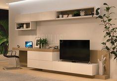 Modern Tv Unit Designs, Modern Tv Wall Units, Dining Table In Living Room, Ikea Living Room, Small Loft Apartments, Tv Wanddekor, Study Room Design, Living Room Entertainment Center, Pinterest Home
