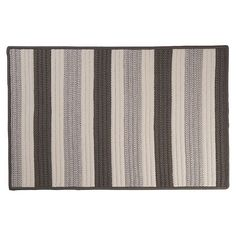Colonial Mills Striped Delight Braided Reversible Indoor Outdoor Rug, Grey