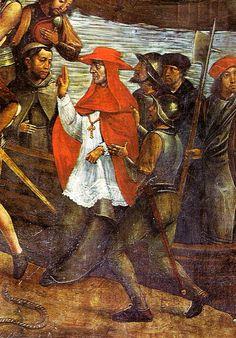 Juan de Borgoña: Conquista de Orán (1514). Detalle con el desembarco del Cardenal Cisneros | Flickr: Intercambio de fotos