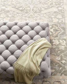 Shop Opal Tufted Ottoman at Horchow, where you'll find new lower shipping on hundreds of home furnishings and gifts. Tufted Ottoman Coffee Table, Diy Ottoman, Chair And Ottoman, Bench Furniture, Furniture Sale, Furniture Design, Leather Dining Chairs, Leather Ottoman, Canterbury Furniture