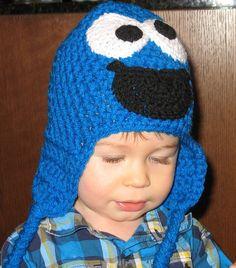Crochet Cookie Monster Hat Kids Cookie by DeesCozyCreations, $20.00